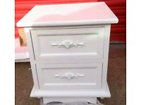 White two drawer cabinet