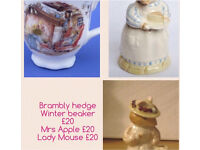 Brambles Hedge figures and cup