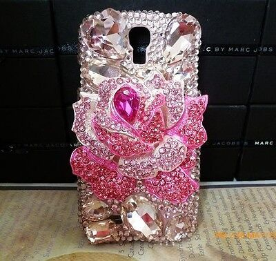 3D Pink Bling Flower Diamond Case Cover For Samsung Galaxy S3 III i9300 NEW ^^C3 on Rummage