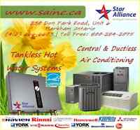 |Chatham Kent New Air Conditioning - New Tankless Hot Water