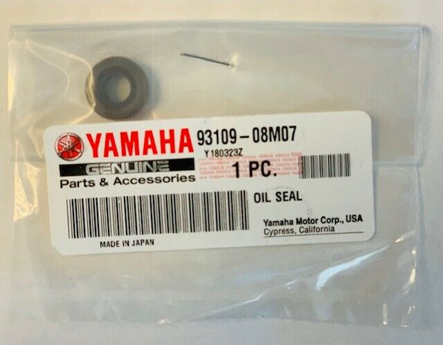 YAMAHA OIL SEAL PART NUMBER 93109-08M07
