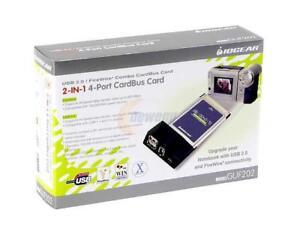 IOGEAR GUF202 USB 2.0 | FireWire 2-in-1 Combo CardBus Card