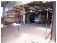For Sale 20ft x 18ft Large Walk In Market Stall Roof Side Sheets Used
