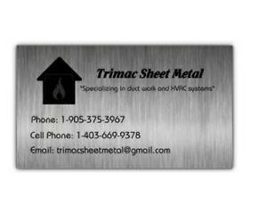 Trimac Sheet Metal/HVAC  Peterborough Peterborough Area image 1
