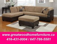 BRAND NEW SECTIONAL WITH  STORAGE OTTOMAN..$699