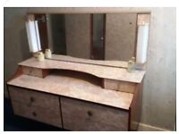 Bedroom suite wardrobe set with matching dressing table