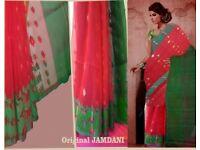 Saree Hand Made woven sari Genuine Jamdani £35
