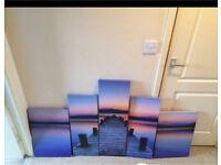 Split picture sunset decking