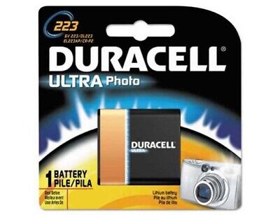 New Duracell Ultra Photo 6V Lithium Camera Battery Size 223 DL223 Genuine Lithium Photo Camera Battery