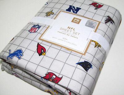 Pottery Barn Teen NFL NFC National Foot Ball League Logos Queen Sheet Set -