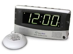 RETURNED Sonic Alert Dual Alarm Clock with Super Shaker SBD375SS Alarm