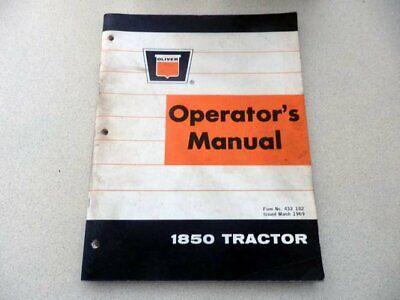 Oliver 1850 Tractor Operators Manual