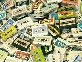 LOOKING FOR LARGE COLLECTIONS OF ROCK POP MUSIC AUDIO CASSETTES ORIGINALS
