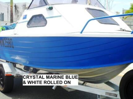 MARINE PAINT 12 LITRES WHITE AND 4 LITRES BLUE DELIVERED