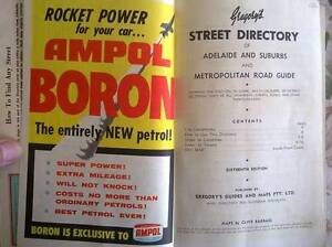 AMPOL GREGORYS 16TH EDITION ADELAIDE STREET DIRECTORY VINTAGE 50s Largs Bay Port Adelaide Area Preview