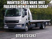 Cars vans mot failures non runners wanted Otley West Yorkshire