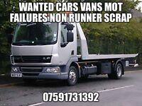 Scrap cars vans mot failures non runners wanted