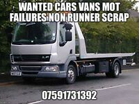 Mot failures non runners spare repairs wanted cars vans 4x4