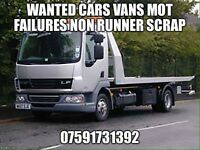 Cars vans mot failures non runners spare repairs wanted