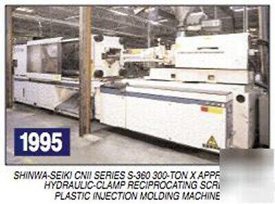 1995 300 Ton Shinwa Seiki S-360 Cn Ii Pu36-80 Injection Molding Machine.