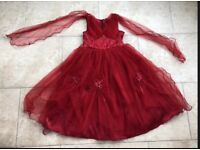 Girls Red Floral Party Bridesmaid Party Dress! Age 11-12 Years BNWT! RRP £65!