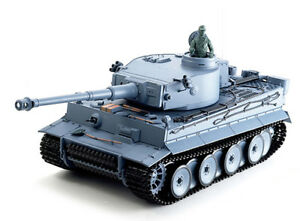 1/16 2.4G RC Henglong Smoke&Sound German Tiger Tank MetalGearNEW