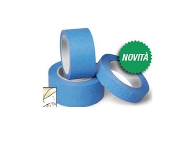 Nastro adesivo in carta crespata azzurra 50 mm x 50 mt.,per mascherature esterne