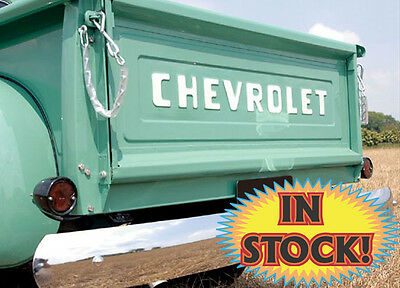 Used, Counterpart 54-65050-C - 1954-87 Chevy P/U Stepside CHEVROLET Logo Tailgate for sale  Monticello