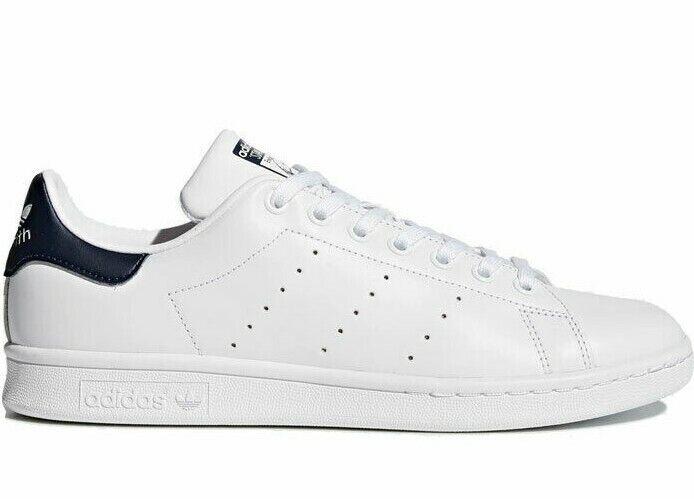 Adidas Originals Men's Stan Smith OG Shoes NEW AUTHENTIC White/Dark Blue M20325