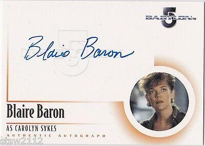 THE COMPLETE BABYLON 5 A5 BLAIRE BARON CAROLYN SYKES AUTOGRAPH