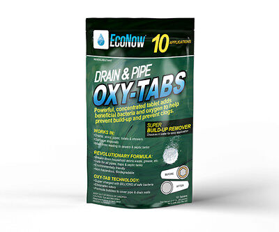 Drain & Pipe Oxy-Tabs - Better alternative to liquid Drain clog remover -10