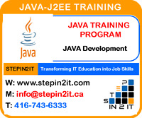 JAVA J2EE TRAINING AND PLACEMENT IN TORONTO
