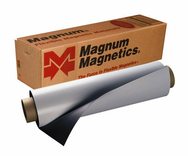 """12"""" x 12"""" Roll Magnum Magnetics 30 Mil. Blank White Sheet - Car, Vehicle Magnets"""