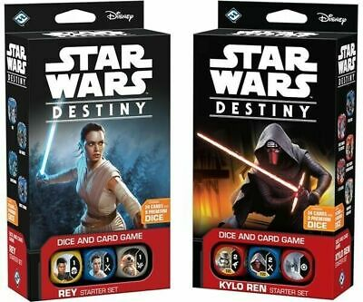 STAR WARS DESTINY DICE AND CARD GAME KYLO REN AND REY STARTER DECKS BNIB