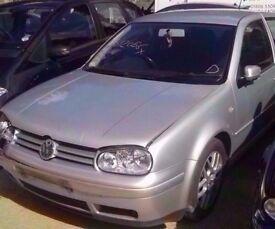 1998-2004 MK4 VW GOLF 1.8T GTI 1.9 TDI AUM 3 DOOR HATCHBACK IN SILVER BREAKING FOR PARTS