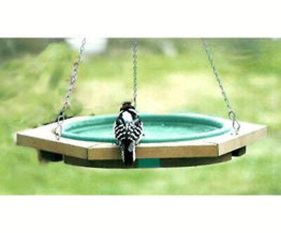 "Songbird Essentials Mini Hanging Bird Bath Green 23"" X 5""..."