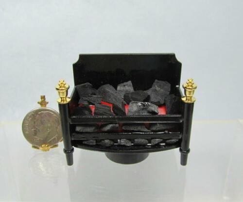 Dollhouse Miniature Battery Operated Fireplace Insert