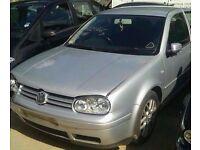 1998-2004 MK4 VW GOLF 1.8T GTI AUM 3 DOOR HATCHBACK IN SILVER BREAKING FOR PARTS