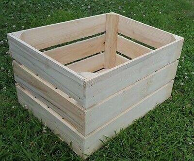CLEAN Wooden Apple Crates Retail Display Shelf Box Storage Christmas Gift Hamper