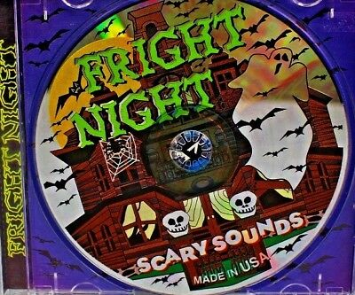 ***NEW*** Fright Night Scary Sounds (CD, 1999 USA Gemstone) Halloween (Scary Halloween Sounds Cd)
