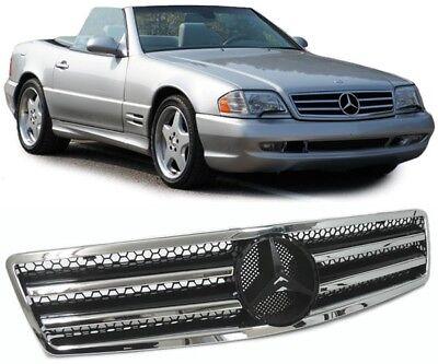 Sport Kühlergrill schwarz / chrom für Mercedes SL R129