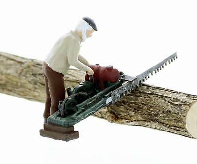 LOGGING BUCKER operating his DRAGSAW, S scale Finished Lumberjack