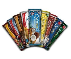 QUEST PROTEIN BARS - Box of 12 - Gluten Free Sugar Free - CHOOSE FROM 18 FLAVORS