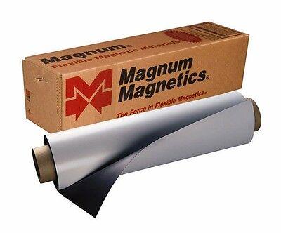 Magnetic Sign Material Vinyl Sheet 24x12 30 Mil Car Magnet 3 Sheets White