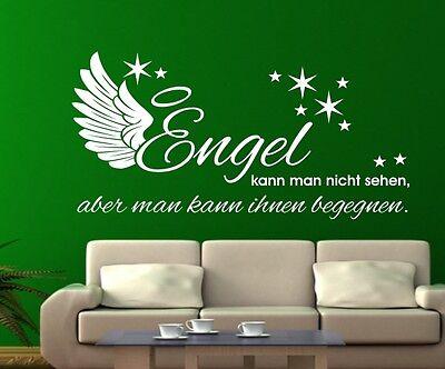 Wandaufkleber Wandtattoo Aufkleber Tattoo Engel Begegnung Angel Flügel Stern  (Tattoo Engelsflügel)