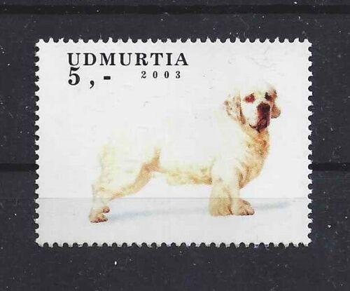 Dog Full Body Photo Study Postage Stamp CLUMBER SPANIEL Udmurtia 2003 MNH
