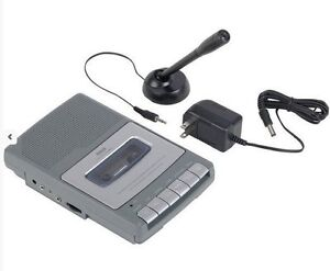 RCA-RP3503-Shoebox-Cassette-Tape-Voice-Recorder-W-Microphone-AC-Adapter