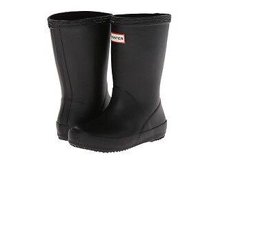 Toddler Black Hunter Boots (NEW Hunter Kids First  Unisex Toddler Black Rubber Outdoors Rain)