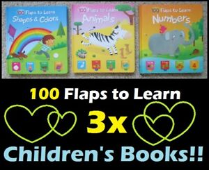 100 FLAPS TO LEARN Colours, Shapes, Animals, & Numbers !! --- $5