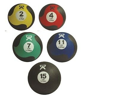 CanDo Firm Medicine Ball-5-piece set-1 each: 2,4,7,11,15 lb-455367 10-3146 NEW